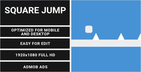 Square Jump (HTML5 Game + Construct 2 CAPX)
