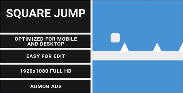 Square Jump (HTML5 Game + Construct 2/3 CAPX) - CodeCanyon Item for Sale