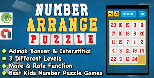 Best Slide Number Puzzle Learning Game For Kids + Ready For Publish + Android