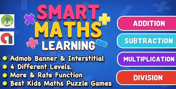 Smart Maths Learning Game For Kids and Adult + Ready For Publish + Android