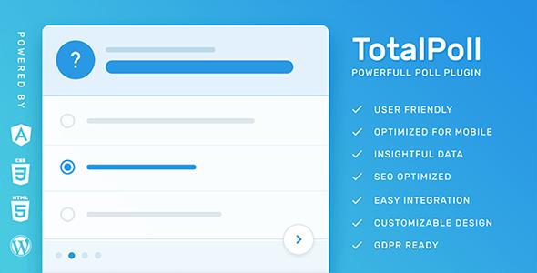 TotalPoll Pro - Responsive WordPress Poll Plugin - CodeCanyon Item for Sale