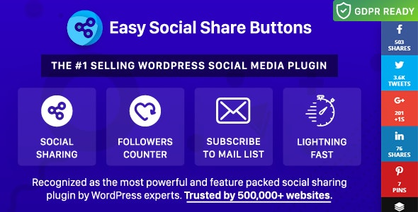 Easy Social Share Buttons for WordPress by appscreo | CodeCanyon