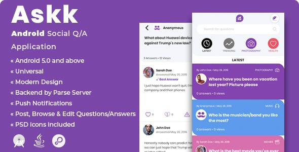 Askk | Android Social Q/A Application        Nulled