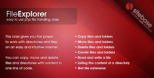 File Explorer Class
