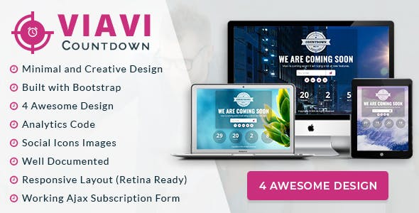 Viavi Countdown - WordPress Countdown Timer plugin (Coming Soon)