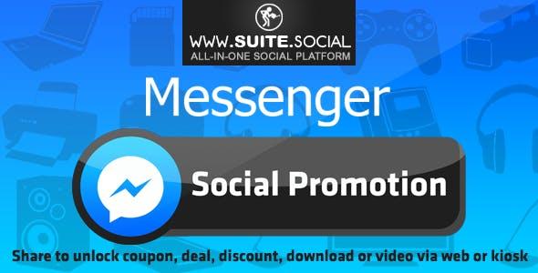 Facebook Messenger Promotion: Sharer, Viral and Marketing Social Script
