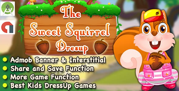Squirrel DressUp Game For Kids + Ready For Publish + Android