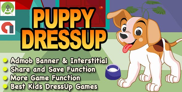 Best Puppy DressUp Game For Kids + Ready For Publish + Android