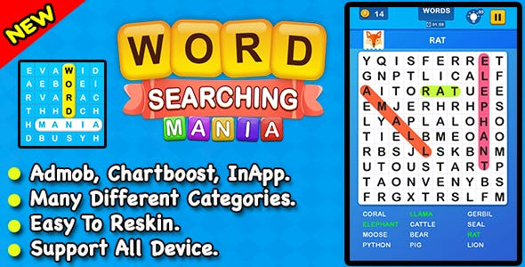 Word Searching Mania + Best Word Search Puzzle Game For IOS        Nulled