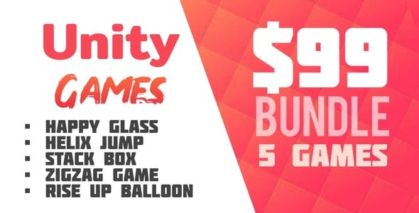 5 Games Bundle - Unity Games Source Code