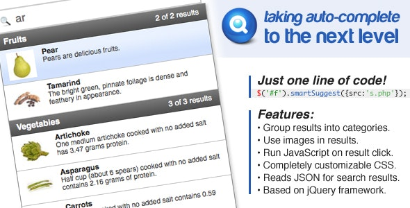Smart Suggest — Advanced Auto-Complete by jskidmore | CodeCanyon