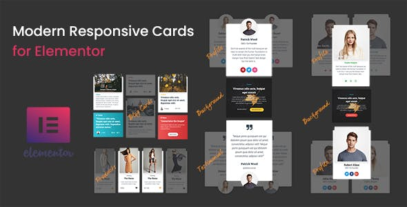 Modern - Responsive Cards for Elementor - CodeCanyon Item for Sale