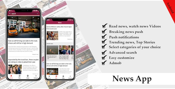 News Android Source Code - CodeCanyon Item for Sale