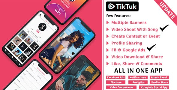 Make A Tiktok App With Mobile App Templates from CodeCanyon