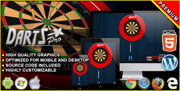 Darts Pro - HTML5 Skill Game