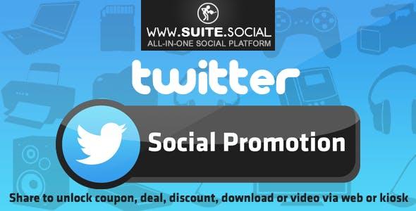Twitter Promotion: Sharer, Viral and Marketing Social Script