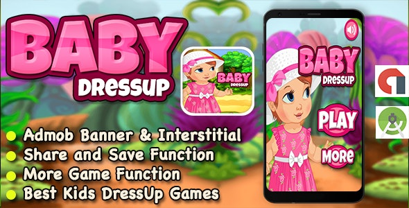 Baby Dress Up Game For Kids + Ready For Publish + Android - CodeCanyon Item for Sale