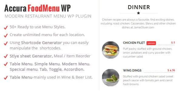 Accura FoodMenu WP - Modern Restaurant Food Menu