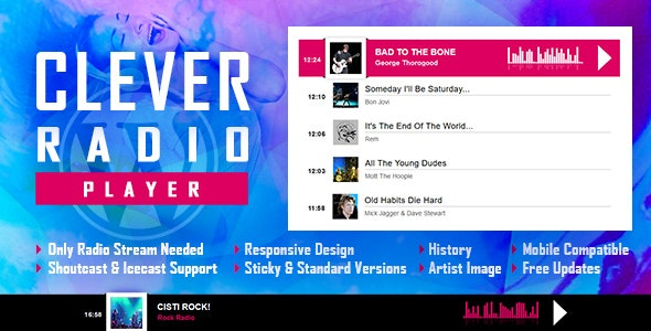 CLEVER - HTML5 Radio Player With History - Shoutcast and Icecast - WordPress Plugin - CodeCanyon Item for Sale