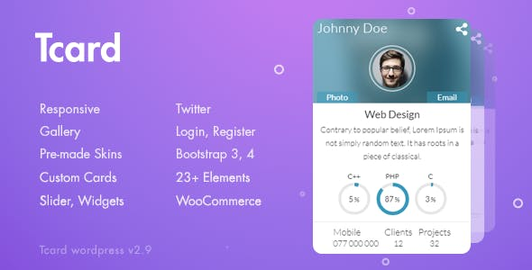 Tcard WP - Simple Plugin for Creating Cards, Filterable Portfolio