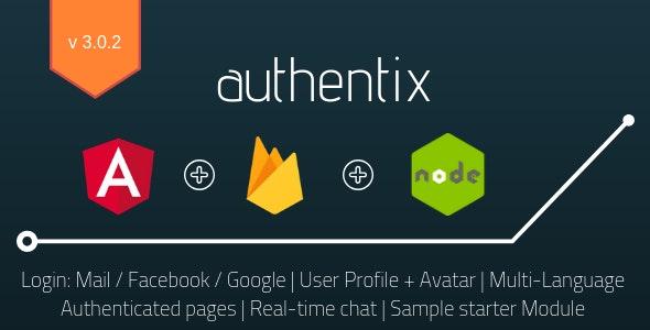 Authentix MVP - Angular 9 Firebase Starter + Node.js Admin Panel - CodeCanyon Item for Sale