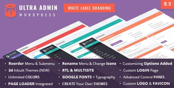 Ultra WordPress Admin Theme - CodeCanyon Item for Sale