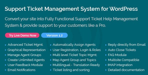 Support Ticket Management System for WordPress