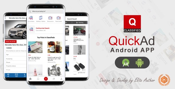 Quickad - Classified Native Android App - CodeCanyon Item for Sale