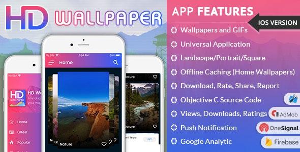 iOS Wallpapers App (HD, Full HD, 4K, Ultra HD Wallpapers) by