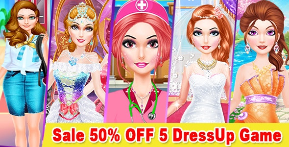 Best 5 Dress Up Game For Kids + Ready For Publish + Android Studio - CodeCanyon Item for Sale