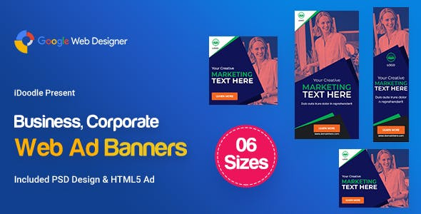C64 - Business, Corporate Banners GWD & PSD