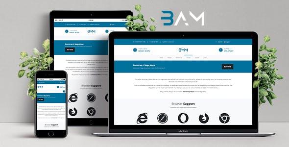 BAM - Bootstrap 4 Admin Menu