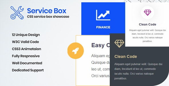 Service Box - CSS Layouts for Service Box - CodeCanyon Item for Sale