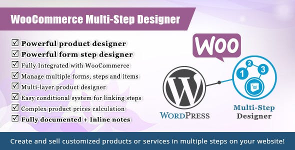 WordPress WooCommerce Multistep Form & Product Designer