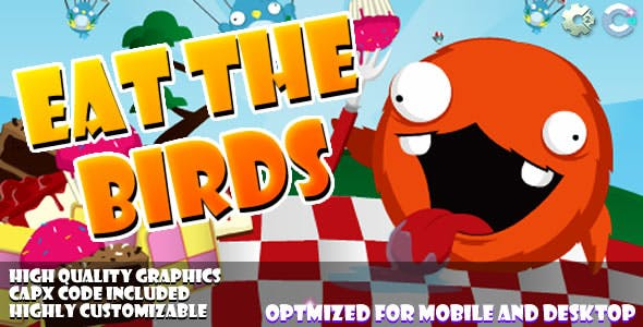 Eat the Birds - (C2,C3,HTML5) Game.
