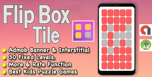 Best Flip Box Tile Puzzle Game For Kids + Ready For Publish + Android
