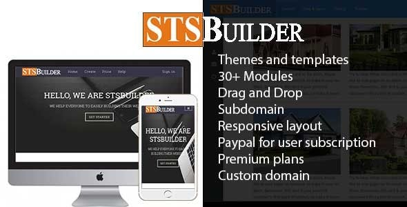 STSBuilder -  Website Builder Service