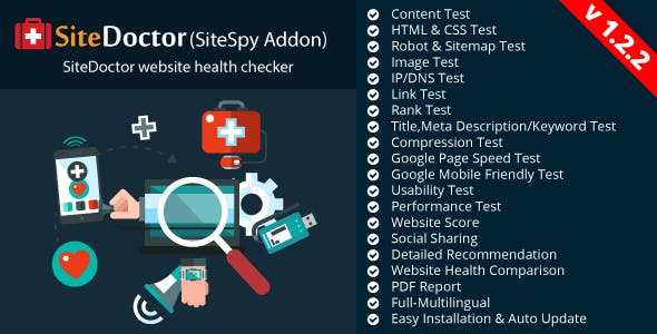 SiteDoctor - A SiteSpy Add-on : Website Health Checker