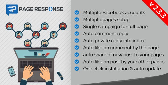 PageResponse - A EZ Inboxer Add-On : Auto Comment/Private Reply & Like/Share For Full Facebook Page