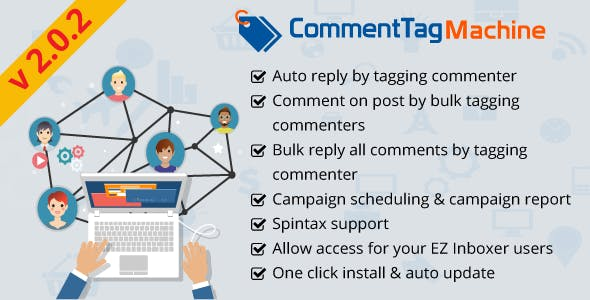 CommentTag Machine - A EZ Inboxer Add-on for tagging post commenters of Facebook Pages