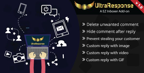 UltraResponse - A EZ Inboxer Add-on : comment hide/delete & image/gif/video auto reply