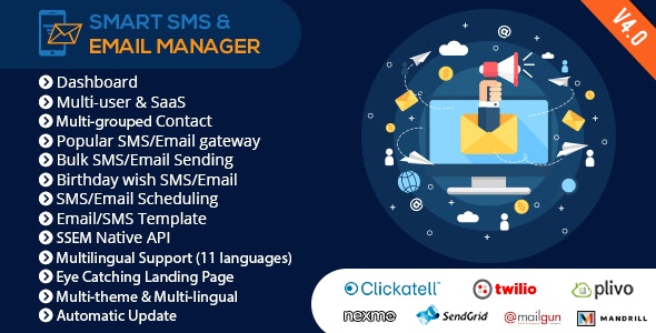 Smart SMS & Email Manager (SSEM) by xeroneitbd | CodeCanyon