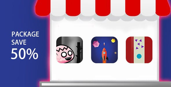 MEGA BUNDLE 3 GAMES - IOS XCODE FILE WITH ADMOB