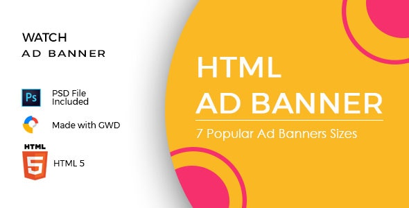 Watch Ad Banners - CodeCanyon Item for Sale