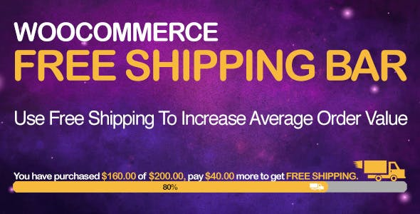 WooCommerce Free Shipping Bar - Increase Average Order Value