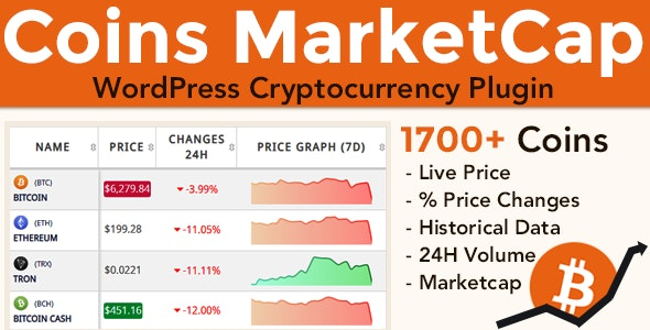 Coins MarketCap - WordPress Cryptocurrency Plugin by