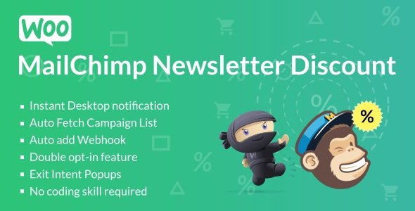 WooCommerce MailChimp Newsletter Discount - CodeCanyon Item for Sale