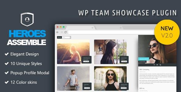 Heroes Assemble - Team Showcase WordPress Plugin - CodeCanyon Item for Sale