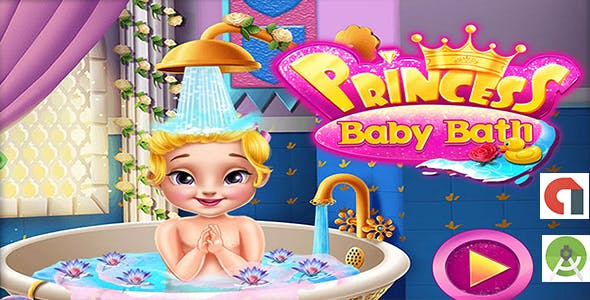 Princess Baby Bath + Best Casual Game For Kids + Android