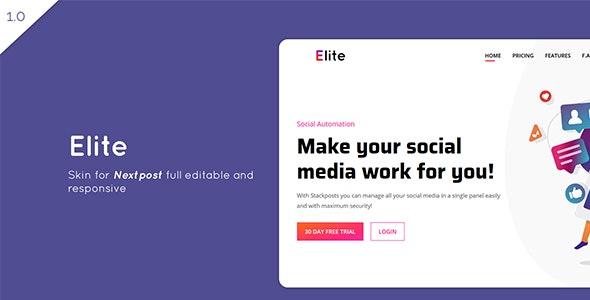 Elite – Skin for Nextpost Instagram Media Planner - CodeCanyon Item for Sale